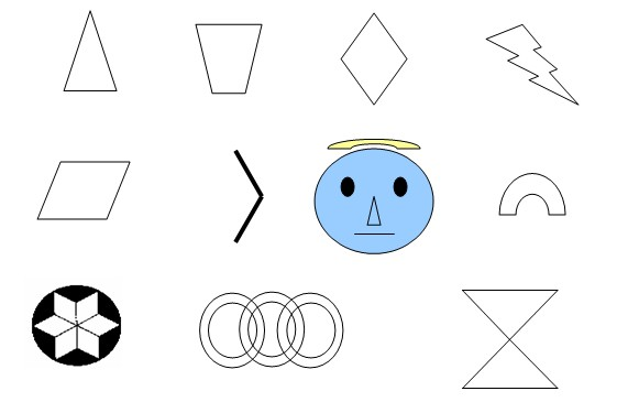 下列图形中,找出哪些是轴对称图形