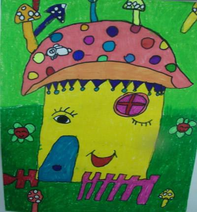 蘑菇房子简笔画 可爱内容图片展示